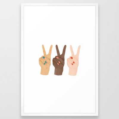 Peace Hands Framed Art Print - Society6