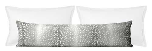 "Antelope Linen Print // Grey - 14"" X 30"" - Little Design Company"