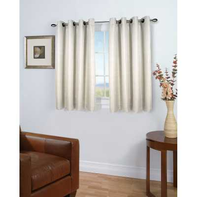 Bassett Short Solid Room Darkening Grommet Single Curtain Panel - Wayfair