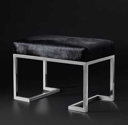 LOREN HAIR-ON-HIDE STOOL - RH Modern