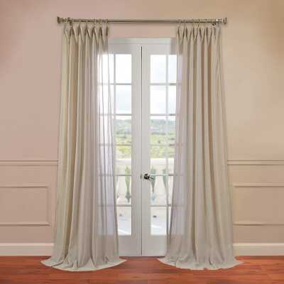 Cris Solid Sheer Rod Pocket Single Curtain Panel - Birch Lane