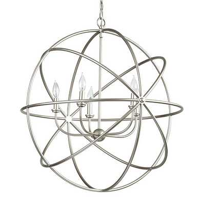 Beau Orb Chandelier-  Silver- Large - Ballard Designs