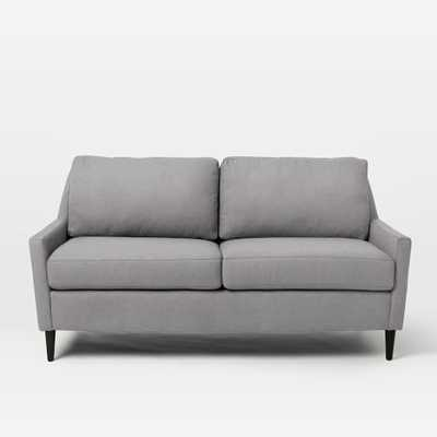 Everett Loveseat, Deco Weave, Feather Gray - West Elm
