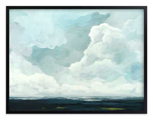 "Late in the Day - 30"" x 40"" - Black Wood Frame - Minted"