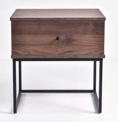 Efrain Bedside 1 Drawer Nightstand, walnut - Wayfair