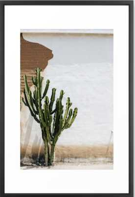 "California Cactus Framed Art Print - Vector Black 26""x38"" - Society6"