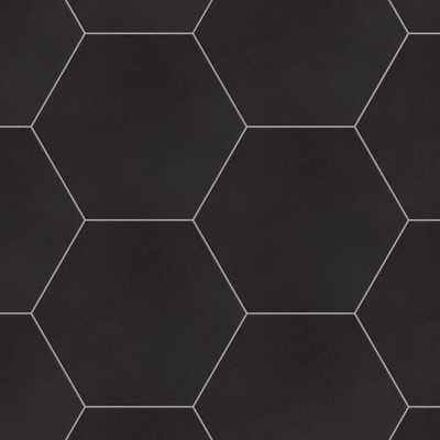 Merola Tile Textile Hex Black 8-5/8 in. x 9-7/8 in. Porcelain Floor and Wall Tile (11.19 sq. ft. / case), Black/Low Sheen - Home Depot
