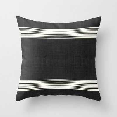 "Band in Black and White Throw Pillow - OUTDOOR - Cover (20"" X 20"") With Pillow Insert - Society6"