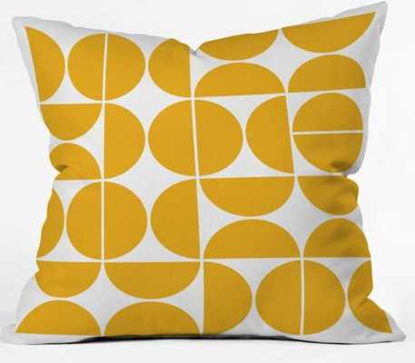 MID CENTURY MODERN 04 YELLOW Throw Pillow - Wander Print Co.