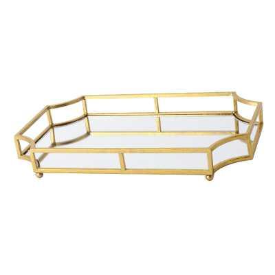 Metal Mirrored Ornate Scalloped Decorative Vanity Tray - Wayfair