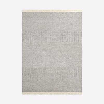 Tweed Flatweave Dhurrie, Ivory, 9'x12' - West Elm