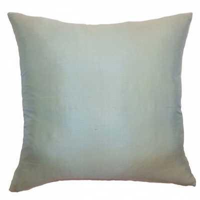 """Constance Solid Pillow Seafoam- 22"""" x 22""""- Down Insert - Linen & Seam"""