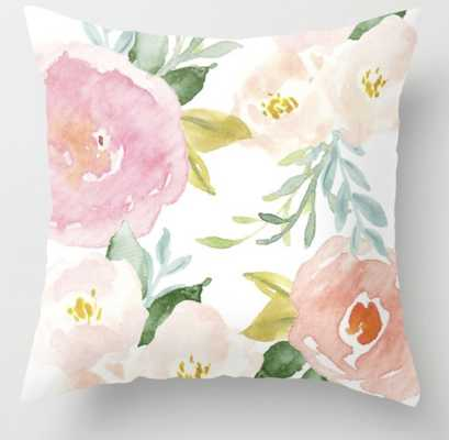 """Floral 02 Throw Pillow - Indoor Cover (20"""" x 20"""") with pillow insert by Creativeindex - Society6"""