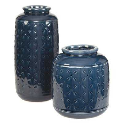 Schoenberger 2 Piece Table Vase Set - Wayfair