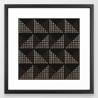 Layered Geometric Block Print in Chocolate - 22x22 - Society6