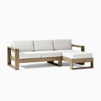 Portside Outdoor 2-Piece Chaise Sectional - West Elm