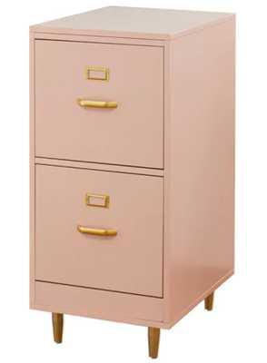 Carson Carrington Erfjord 2-drawer File Cabinet - Pink - Overstock