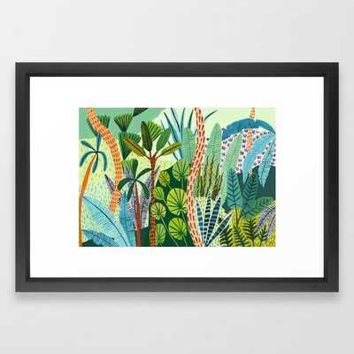 Malaysian Jungles Framed Art Print, 15x21, vector black frame - Society6
