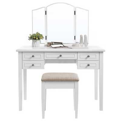 Kates Vanity Set with Mirror - white - Wayfair