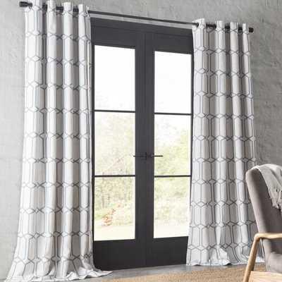 "Atwell Geometric Room Darkening Thermal Grommet Single Curtain Panel, 84"" - AllModern"