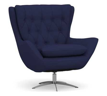 Wells Tufted Upholstered Swivel Armchair - Article
