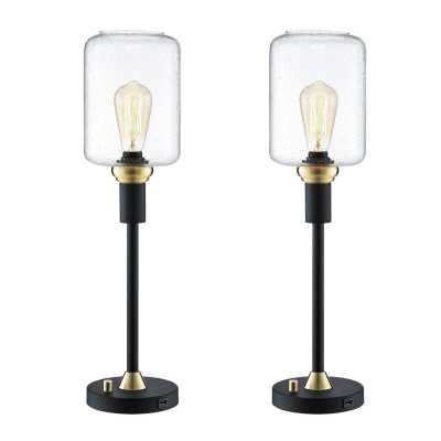 "Tincher 24"" Torchiere Lamp Set (Set of 2) - Wayfair"
