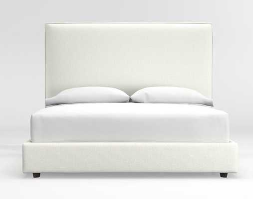 Lotus Tall King Bed - Nordic Frost - Crate and Barrel