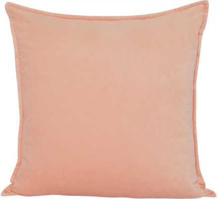 MAXEN VELVET PILLOW, PEACH - Lulu and Georgia