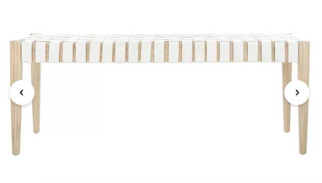 Soleil Genuine Leather Bench - AllModern