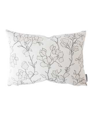 "BLAIR SKETCHED FLORAL PILLOW COVER WITHOUT INSERT, 14"" x 20"" - McGee & Co."