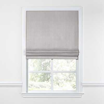 Flat Roman Shade - Lush Linen - Smokey Quartz Prime $$ - Loom Decor