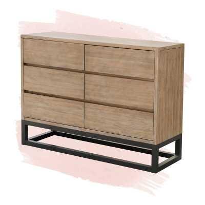 Natalia 6 Drawer Double Dresser, Natural - Wayfair