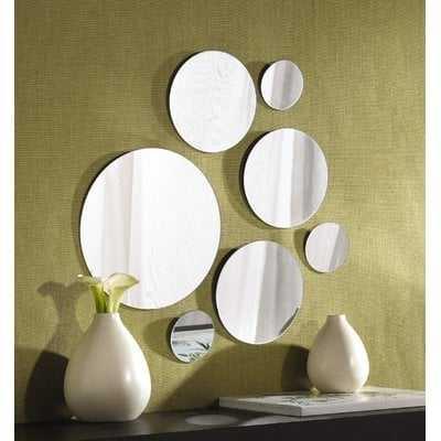 7 Piece Modern & Contemporary Frameless Mirror Set - AllModern