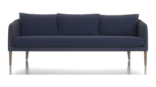 Rhys Bench Seat Sofa - Fabric: Kingston Denim, Leg: Cobblestone - Crate and Barrel