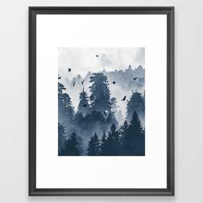 """Amazing Forest Morning Nature Photography Framed Art Print - Scoop Black Frame - 20"""" x 26"""" - Society6"""