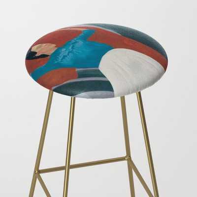 Frida Bar Stool - gold legs - Society6