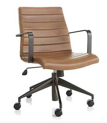 Graham Brown Leather Desk Chair - Crate and Barrel