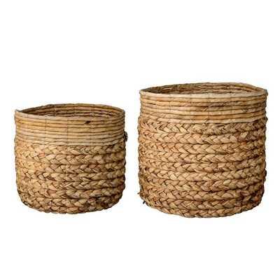 2 Piece Wicker Basket Set - Wayfair
