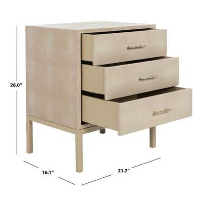 COUTURE CAMDEN 3 DRAWER ACCENT CHEST - Perigold