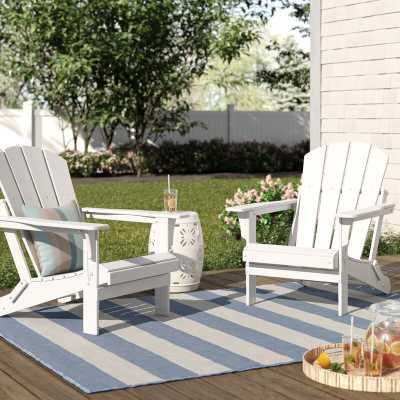 Lopes Resin Folding Adirondack Chair (Set of 2) - Wayfair