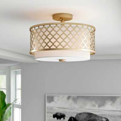 Dolly Unique/Statement Drum Semi Flush Mount - Wayfair