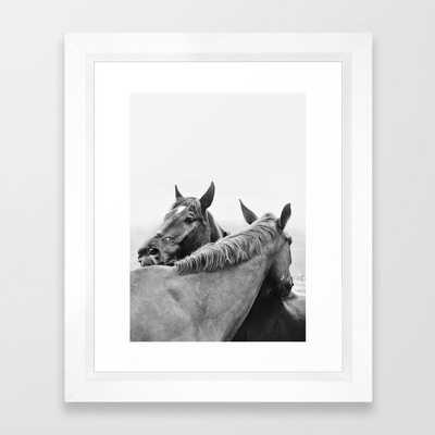 Two Horses Framed Art Print - Society6