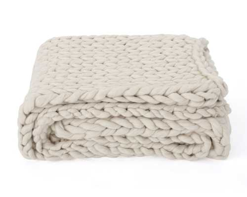 Maysville Throw Ivory - Wayfair