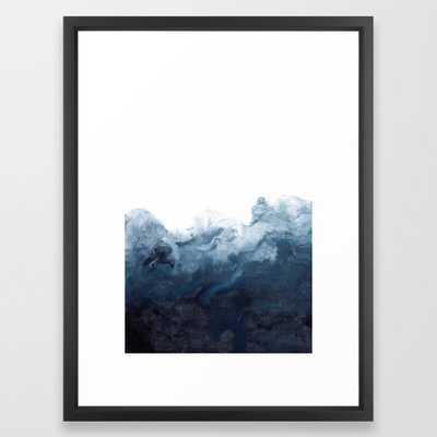 Indigo Depths No. 2 Framed Art Print - Society6