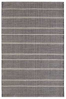 SAMSON BLACK INDOOR/OUTDOOR RUG - 5' x 8' - Dash and Albert