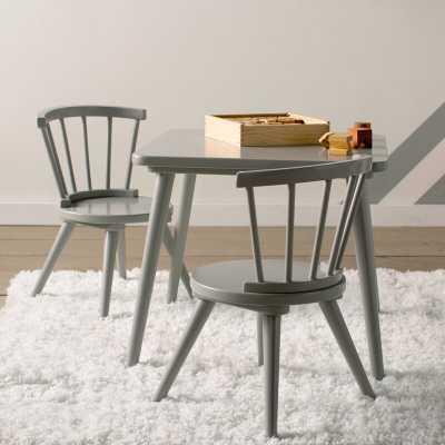 Nicklas Kids 3 Piece Windsor Writing Table and Chair Set - Wayfair