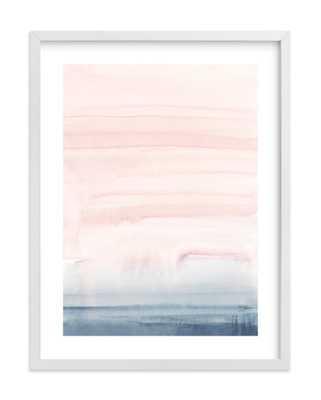 "Cascading Sky Art Print / White wood frame /18"" x 24"" - Minted"