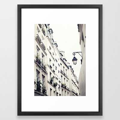 "Paris Street Framed Art Print, 20"" x 26"" - Society6"