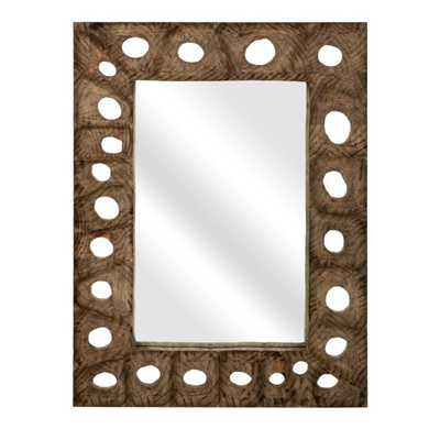 Aiden Carved Wood Mirror - Mercer Collection