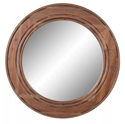 "32"" Reclaimed Wood Large Wall Accent Mirror Brown - Patton Wall Decor - Target"